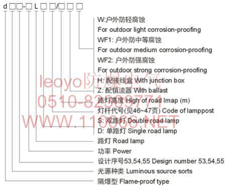 防爆路灯    dB53-200LS         dB54-200LS       dB55-200LS