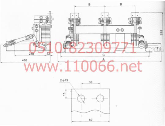 交流高压接地开关 JN12-12/31.5-150 JN12-12/31.5-165