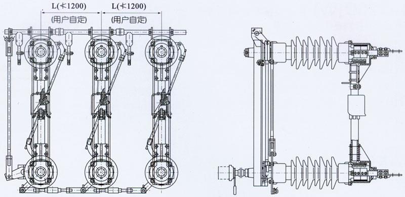 隔离开关    GW4-40.5         GW4-40.5D/630