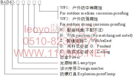 隔爆型防爆灯    BAD62-B300GHWF1         BAD62-B300XHWF1