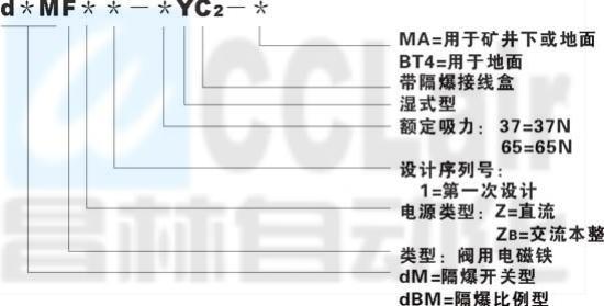 隔爆型阀用电磁铁  d*MF-45     dBMF-45