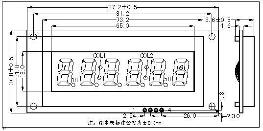 6位靜態驅動的液晶顯示模塊