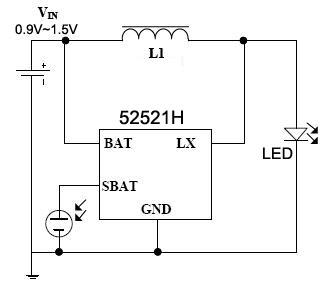 产品目录 led驱动电路 >>>  led太阳能草坪灯ic  52521h 高效草坪灯ic