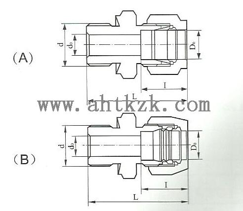 hyg1-1直通终端接头采用双卡环密封结构