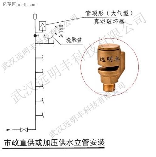 简易消防给水立管或其他异质水的压力管道,与生活饮用水管道的连接处图片