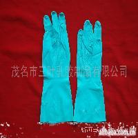 平边蓝色手套