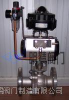 氣動球閥 電磁閥球閥 Q641F-16