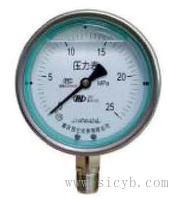 重慶川儀外卡式不銹鋼耐震壓力表 YQFN-60,YQFN-60Z,YQFN-40Z,YQFN-60T,YQFN-60TQ,YQFN-