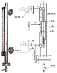 磁翻板液位计厂家/磁翻柱液位计 TY-UHZ511