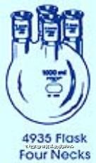 四口磨口烧瓶 PYREXR四口磨口烧瓶