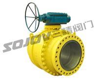 温州Q347F/H碳钢蜗轮固定球阀 Q347F/H