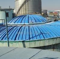 污水处理池臭气收集罩  玻璃钢污水池罩