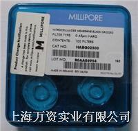 MF-Millipore 表面滤膜,混合纤维素酯HABG02500亲水,0.45 µm,25 mm,黑色,网格 HABG02500