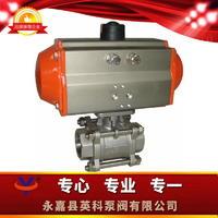 氣動三片式焊接球閥 Q661F型