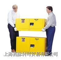 JUSTRITE叠加式易燃品储藏柜(12加仑,黄色) JUSTRITE891300,FM认证