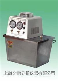 SHZ-3A型台式不锈钢循环水式真空泵(双表双头) SHZ-ⅢA型不锈钢台式双表双头循环水真空泵