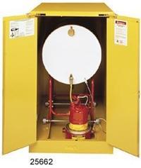 黄色横放油桶安全柜 29661