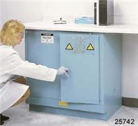 蓝色钢制桌下型安全柜 24040