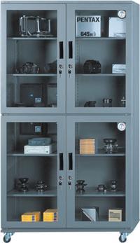金属镶钢化玻璃门电子防潮柜AD-880D