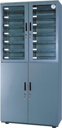 金属镶钢化玻璃门电子防潮柜WD-600 WD-600