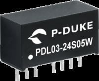P-DUKE电源PDL03系列 PDL03-24S05W PDL03-24S12W PDL03-24S15W PDL03-24D12W PDL03-12S05W PDL03-12S15W PDL03-12S24W PDL03-12D12