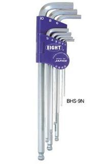 BHS-9N球头六角匙 日本EIGHT百利牌超硬六角扳手 BHS-8 BHS-9N