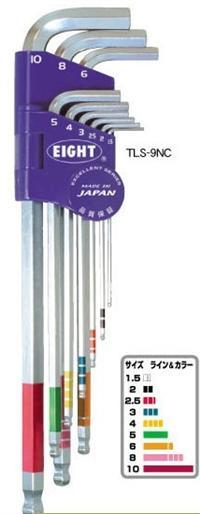 TLS-9NC球型六角扳手 日本EIGHT八牌超硬六角匙 TLS9NC TLS-9NC
