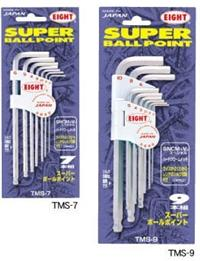 TMS-7球型六角扳手 日本EIGHT八牌超硬六角匙 TMS-9 TMS-9