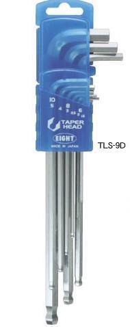 TS-9D球型六角扳手 日本EIGHT八牌超硬六角匙 TS-8D 日本EIGHT圆头内六角扳手组 TS-9D