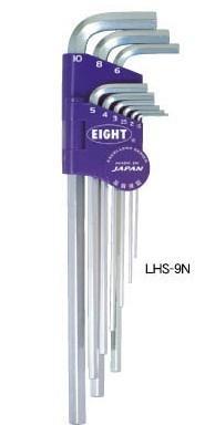 LHS-9N六角扳手|日本EIGHT百利牌超硬六角匙|LHS9N LHS-9N