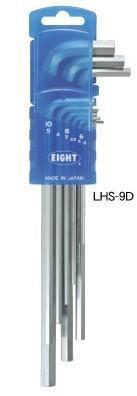 LHS-8D六角扳手|日本EIGHT百利牌超硬六角匙|LHS-7D LHS-9ZD