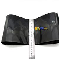 15.5cm BLACK 2:1 HS-PVC HEAT SHRINK TUBING 0.51feet