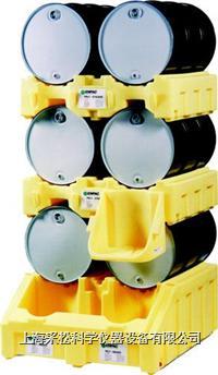 雙桶三層分裝盛漏堆棧系統 Enpac,6000-YE,2個6002-YE,6003-YE