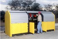 户外重型12桶卷帘式硬顶防渗漏隔间 CN9652 CN9653 CN0676