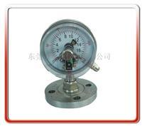 100MM法兰式隔膜电接点压力表 100MFX-C002