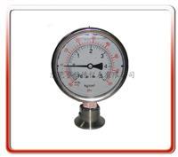 卫生型压力真空隔膜式压力表   100YTP-MC01