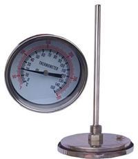 100MM轴向双金属温度计  WSS-401