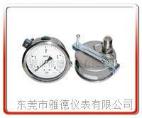 100MM轴向带支架全钢压力表 100US-LZK001