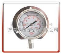60MM径向带后边全钢压力表 耐高温压力表 60US-SA001