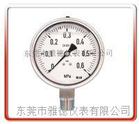 100mm径向德国款全不锈钢充油表  全不锈钢压力表  耐高温压力表 100LAF-1015-1