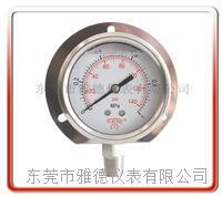 60MM径向带后边全不锈钢压力表 耐高温压力表 60US-SA001