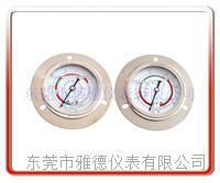 60MM轴向带边冷媒油压表 1.5/3.5高低压冷媒压力表 制冷压力表 60LM-UB01