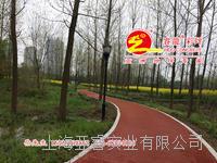 红色帕米亚孔透水混凝土路面铺装,透水砼强固剂供应,上海睿龙厂家