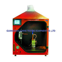 Horizontal-vertical flame chamber tester
