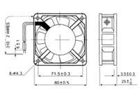 QA8025HSL1,QA8025HSL2,QA8025HBL1,QA8025HBL2,交流风机 QA8025HSL1,QA8025HSL2,QA8025HBL1,QA8025HBL2,交流风机