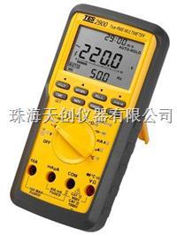新款台湾泰仕TES-2900多功能真有效值三用电表 TES-2900
