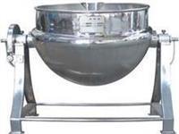 全钢可倾电加热带搅拌刮壁夹层锅