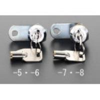 φ22x10.5mm[スチール製]サイドバーロック(同一キー) EA983TH-8