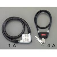 6.0x500mm ワイヤー錠 EA983TV-4A