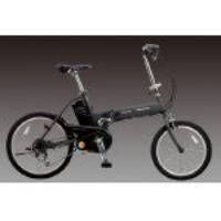 [20インチ]充電式電動自転車(折畳み/ブラック) EA986YA-13B